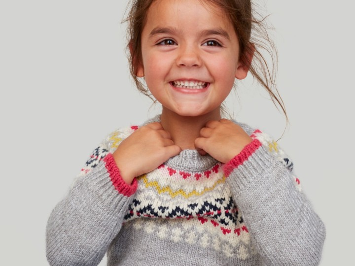 Smiling Girl in Joules jumper